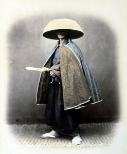A Japanese Samurai In Traditional Costume by Felice Beato