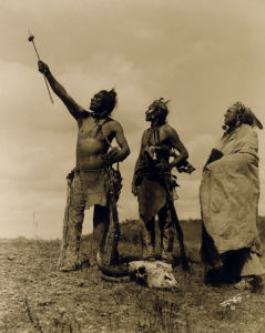 The Oath - Apsaroke by Edward S. Curtis