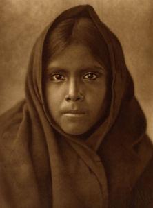 Qahatika Girl by Edward S. Curtis