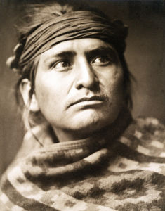 Chief Of The Desert, Navaho by Edward S. Curtis