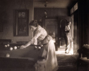 The Billiard Game by Gertrude Kasebier
