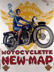 Motocyclette, New-Map by Henry Le Monnier