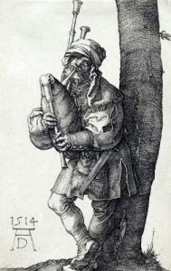 The Bagpiper by Albrecht Dürer