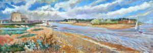 Deben Estuary at Felixstowe Ferry by Anne Rea