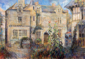 Town Square, Rochefort-en-Terre by Anne Rea