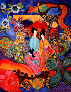 A stroll in the garden by Luisa Gaye Ayre