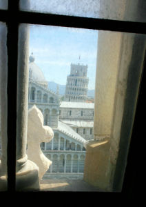 Pisa through the window by Wayne Williams