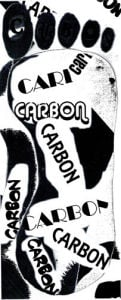 Carbon footprint by Luisa Gaye Ayre