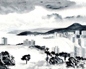 Approaching storm by Luisa Gaye Ayre