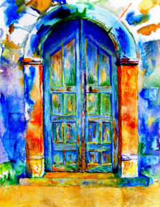 Grecian Door by Luisa Gaye Ayre