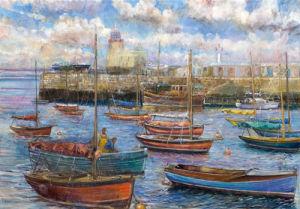 Howth Harbour near Dublin by Anne Rea