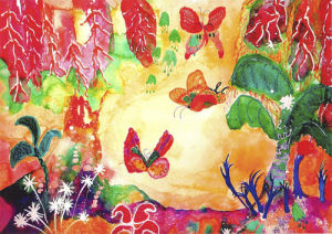Butterfly world by Luisa Gaye Ayre