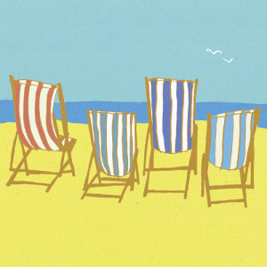 Deckchairs by Louise Cunningham