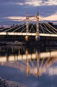 Albert Bridge at Dusk by Christopher Holt