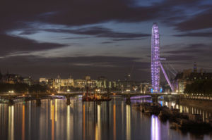 London Eye by night by Christopher Holt