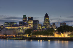 City of London at dusk by Christopher Holt