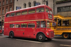 Red London Bus by Christopher Holt