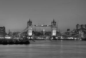 Tower Bridge Black White by Christopher Holt