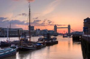 River Thames at Dusk by Christopher Holt