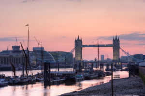 Evening falls over London by Christopher Holt
