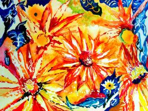 Sunny Flowers by Luisa Gaye Ayre