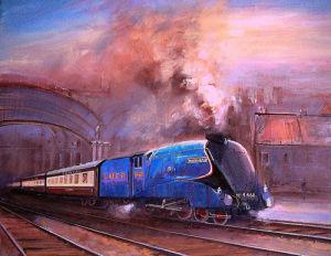 Mallard Leaving York by Martin Ulbricht