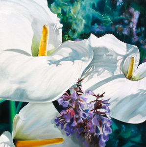 Three Arums by James Knowles