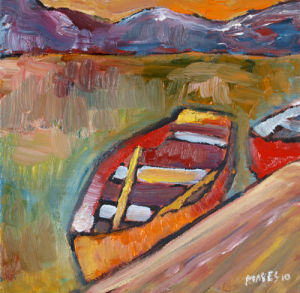 Moored Boat by Jeremy Mayes