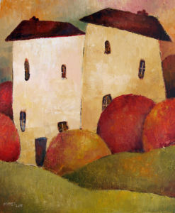 Two Huddled Houses by Jeremy Mayes