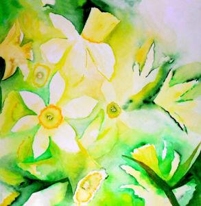 Spring daffodils by Luisa Gaye Ayre