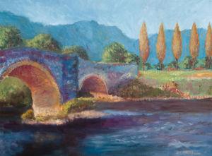 Blue Bridge Poplars by Jeremy Mayes