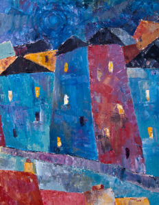 Town at Night by Jeremy Mayes