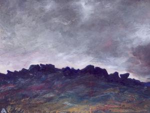 Stormy Evening Almscliffe by Lesley Birch