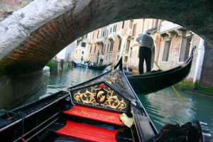 Venice Gondola Ride by Wayne Williams