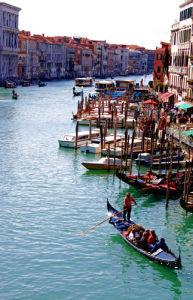 Gondola on the Grand Canal Venice by Wayne Williams