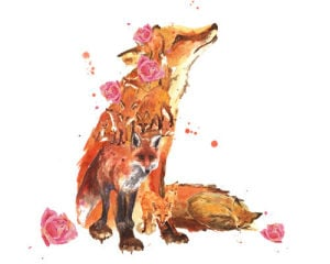 Flower Power Fox by Alison Fennell