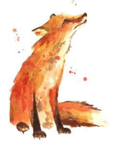Watercolour Fox - Trusting Eyes by Alison Fennell
