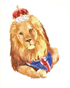Jubilee Lion Print - Royal Leo by Alison Fennell