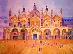 The Basilica of Saint Mark`s in Venice by Luisa Gaye Ayre