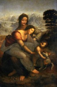 Virgin and Child with St.Anne, c.1510 by Leonardo da Vinci