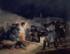 Execution of the Defenders of Madrid, 1814 by Francisco de Goya