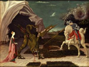 St. George and the Dragon, c.1470 by Paolo Uccello
