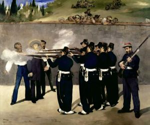 The Execution of the Emperor Maximilian, 1867 by Edouard Manet