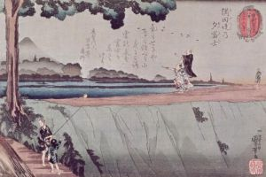 Mount Fuji from the Sumida River, c.1842 by Utagawa Kuniyoshi