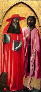 St. Jerome and St. John the Baptist, c.1428 by Masolino Masaccio
