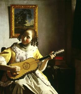The Guitar Player, c.1672 by Johannes Vermeer