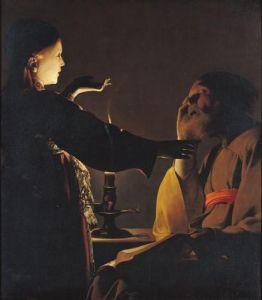 Joseph and the Angel, 1652 by Georges De La Tour