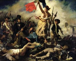 Liberty Leading the People, 28 July 1830 by Ferdinand Victor Eugene Delacroix