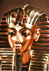 The Gold Mask, from the Treasure of Tutankhamun, c.1340 BC by Egyptian Art