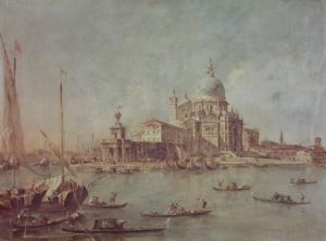 Venice, The Punta della Dogana with Santa Maria by Francesco Guardi